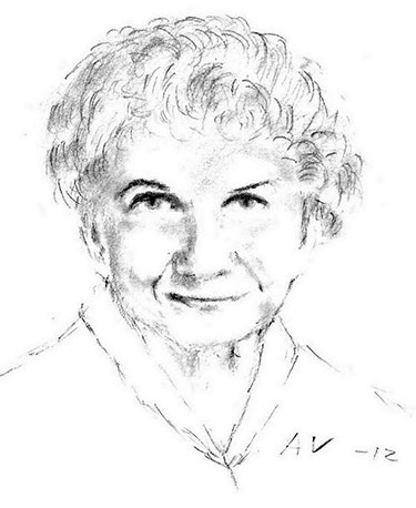 Pencil sketch of Alice Munro. Artist: Andreas Vartdal< Creative Commons, some rights reserved