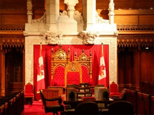 The Senate Chamber on Parliament Hill in Ottawa. Photo: Marcio Cabral de Moura, Creative Commons, some rights reserved