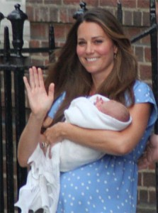 The newborn Prince George made his public debut with his mother, The Duchess of Cambridge, outside St Mary's Hospital in July. Photo: Chistopher Neve, Creative Commons, some rights reserved