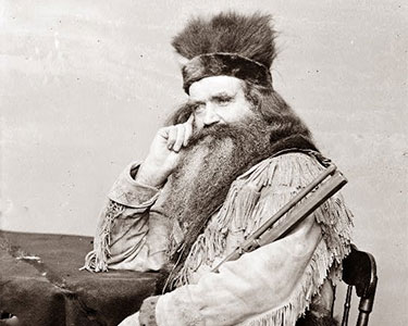 "Fur trapper and ""Mountain Man"" Seth Kinman (1815-1888). Photo: public domain"