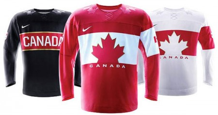 Team Canada hockey jerseys for the 2014 Winter Olympics in Sochi, Russia. Photo: Hockey Canada press handout