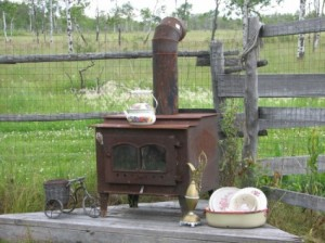 Wood stove efficiency varies widely! photo: Vintage wood stove by Kim Newberg
