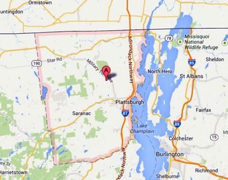 Clinton County, NY. Image: maps.google.com