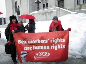A rally to support sex worker rights at the Supreme Court of Canada in Ottawa last year. Photo: Jenn Farr, Creative Commons, some rights reserved