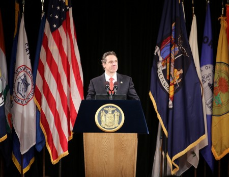 Gov. Andrew Cuomo at the State of the State address this week. Photo: Gov. Andrew Cuomo's office, via Flickr
