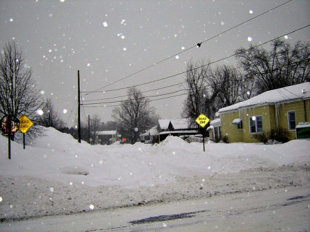 Glens Falls, winter, 2011. Photo: alandaviddoane, Creative Commons, some rights reserved