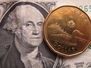 Compared to a U.S. greenback, the Canadian dollar is currently worth about 90 cents. Photo: Lucy Martin