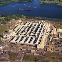 Alcoa's Massena East smelter plant. NCPR file photo