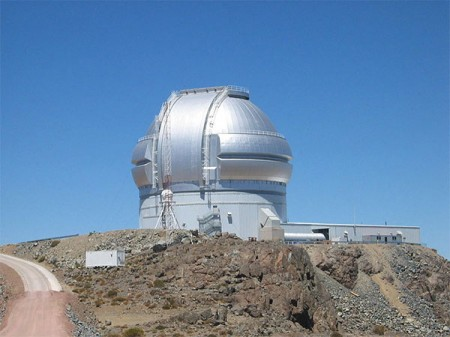 The Corning Canton plant has made high-tech glass products such as astronomical mirror blanks for the 8-meter telescopes of the Gemini Observatory located in Hawaii and Chile (Pictured: Gemini South in Chile). Photo: Denys, Creative Commons, some rights reserved