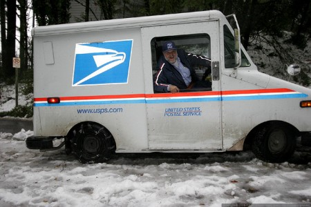 Snowy postman. Photo: Sean Dreilinger, Creative Commons, some rights reserved
