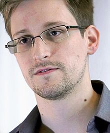 Screen capture from an Edward Snowden interview, reproduced on Wikipedia with permission from Prism Films