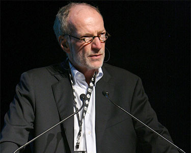 Hubert Lacroix, speaking at a television festival in Banff in 2008. Photo: Kris Krug, Creative Commons, some rights reserved