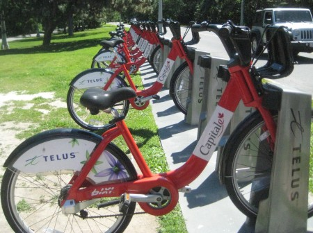 A Bixi bike-share station in Ottawa last June. Photo: Lucy Martin