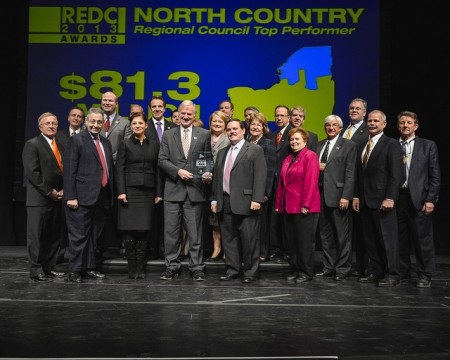 The North Country Regional Economic Development Council celebrates the region's $81.3 million award in 2013. This year, the North Country REDC will be competing for $25 million from the state. Photo: Gov. Cuomo's office via Flickr