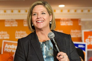 Don't count Andrea Horwath out - the NDP is in the race too. (image: Wikipedia)