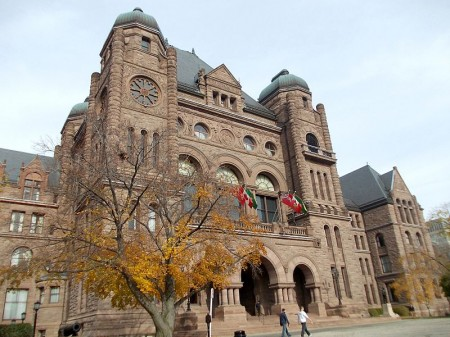 The Legislative Assembly of Ontario, in Toronto. Photo: Andrijko Z., via Wikimedia Commons