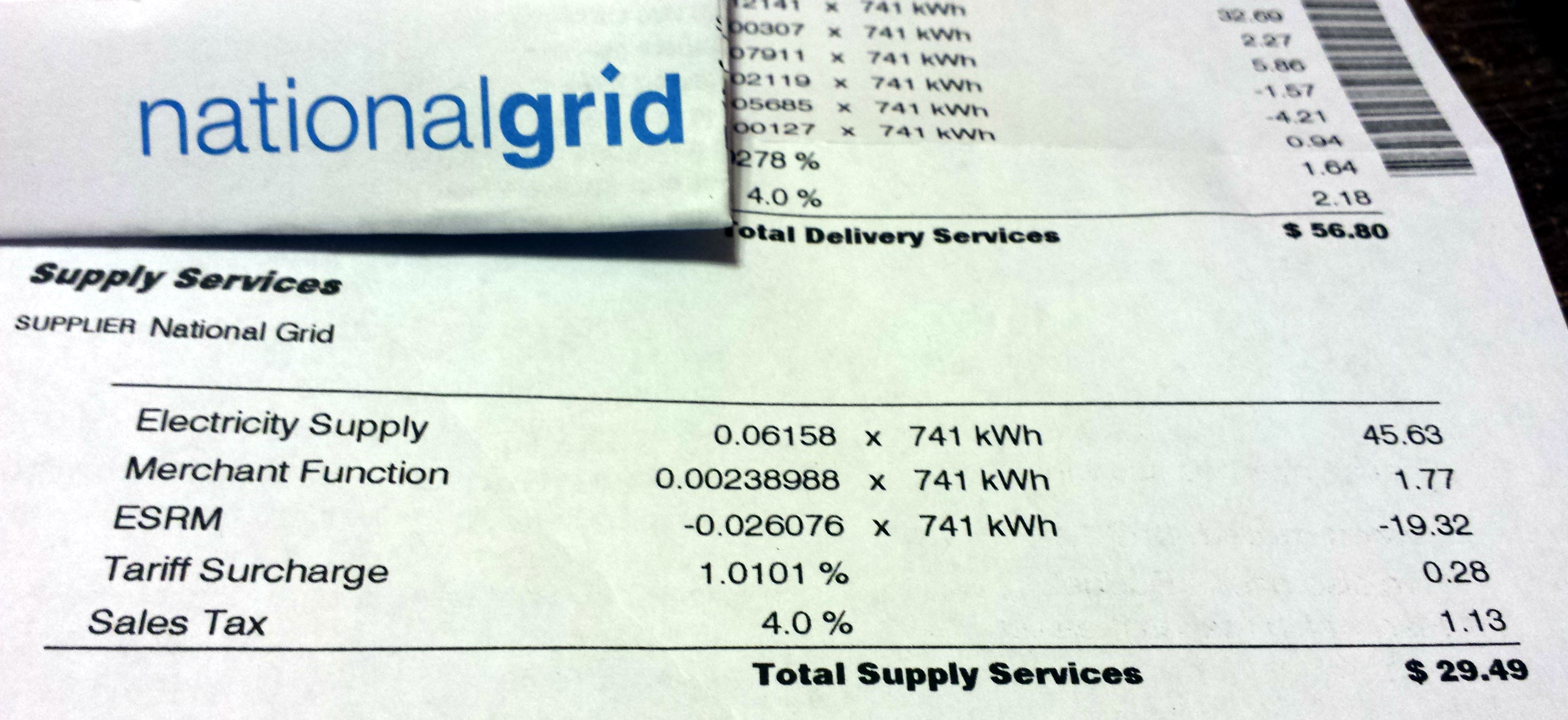 national grid bills high