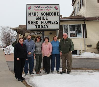 Michele M. Montroy, George Parrish, Laurie LaFaver, program manager at Mosaic, Toni Duprey and Jane and Joe Basta. Photo via unitedhelpers.org