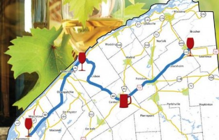 The planned St. Lawrence Wine Trail. Image via Patty Ritchie's office