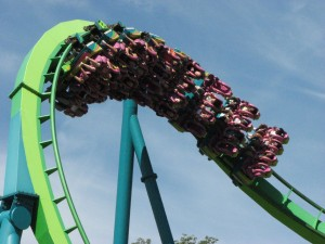 Roller Coaster at Dorney Park, Allentown, PA. Photo: hounddiggity, Creative Commons, some rights reserved