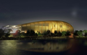 Artist's rendering of the new stadium