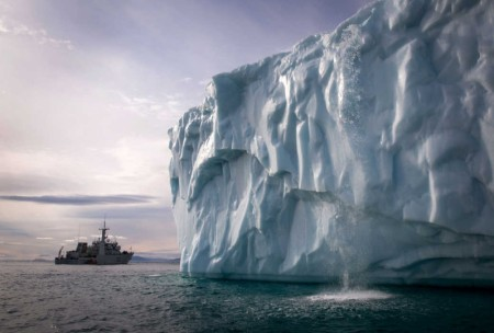 A striking image from the Prime Minister's 2014 Arctic tour.