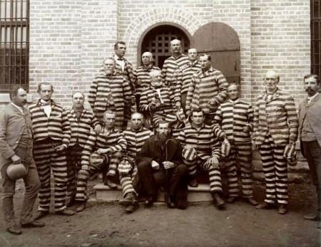 Utah polygamists in prison, circa 1889
