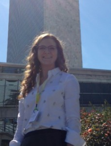 Caroline Dodd at the United Nations in New York City.  Photo provided