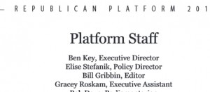 "The 2012 Republican National Committee policy staff lists Stefanik as second in command, with the title of ""policy director.""  Image:  Republican National Comittee policy book"