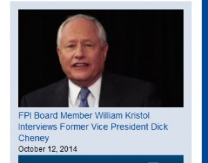 William Kristol was a founder of FPI and remains a board member at the think tank where Stefanik worked as communications director.  Image:  FPI website
