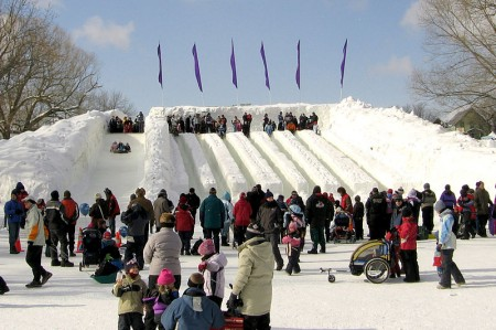 Ice slides at Winterlude 2007. Image: John Vetterli,  Creatve Commons