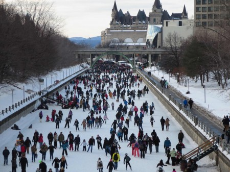 Winterlude on the Rideau Canal Skateway 2014. Photo: Lucy Martin