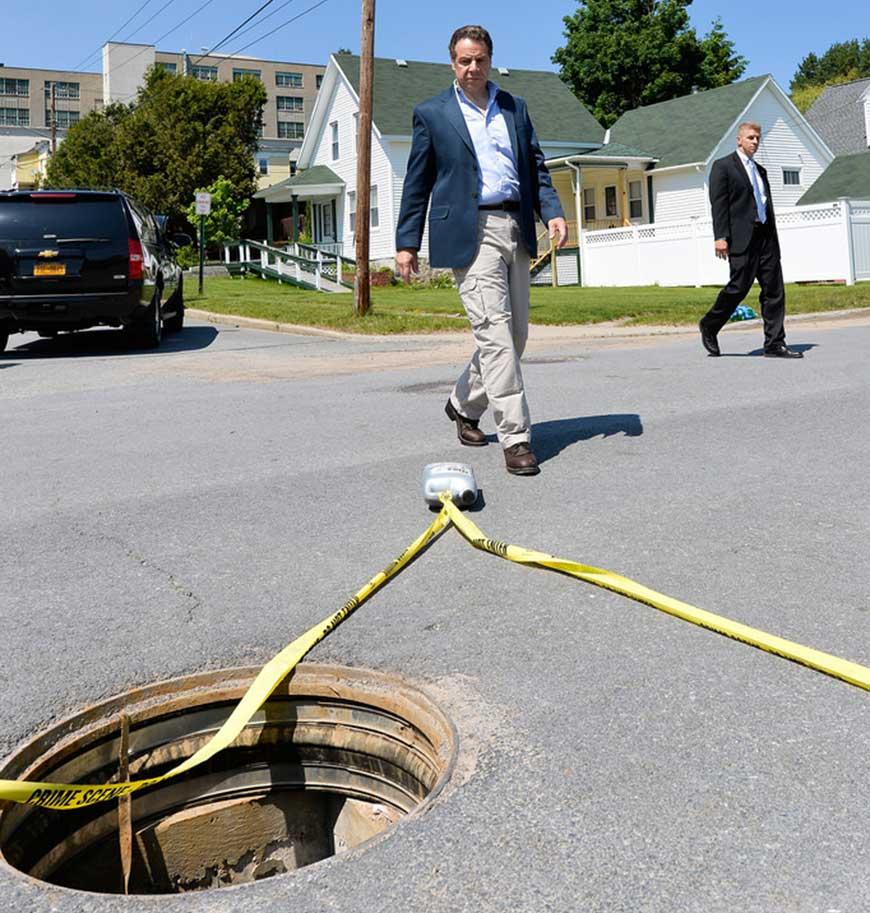 Step Five: Out through a manhole cover.