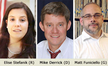 Candidates for the NY-21 congressional race.